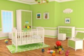 chambre-bebe-verte