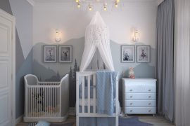 Chambre de bébé aménagée de façon à lui garantir de bonnes nuits de sommeil